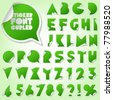 Alphabet set of symbols in the form of stickers. Flat - stock vector