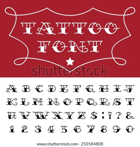 Tattoo Lettering Stock Royalty Free & Vectors