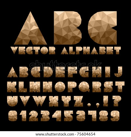 Alphabet With Numbers - stock vector
