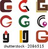 Alphabetical Logo Design Concepts. Letter G. Check my portfolio for more of this series. - stock
