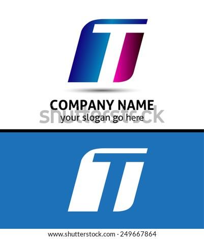 Alphabetical Logo Design Concepts. Letter T  - stock vector