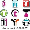 Alphabetical Logo Design Concepts. Letter T. Check my portfolio for more of this series. - stock vector