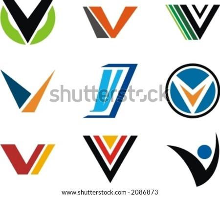 v and s logo design  Alphabetical Logo Design Concepts. Letter