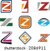 Alphabetical Logo Design Concepts. Letter Z. Check my portfolio for more of this series. - stock vector