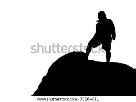 Alpinist - stock vector