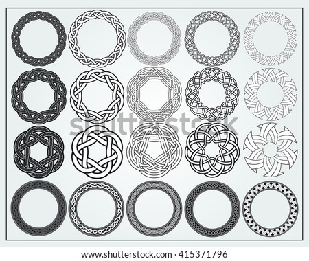 AVAILABLE HERE Etsy Set Celtic Knotwork Stock Vector 415371796 ...