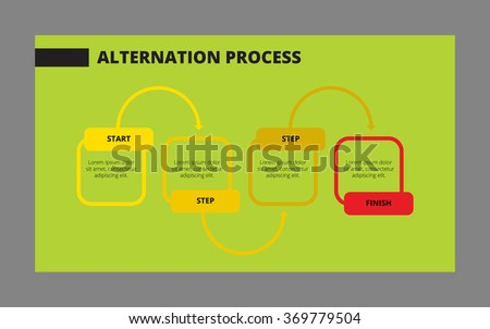 Alternation process template 2 - stock vector