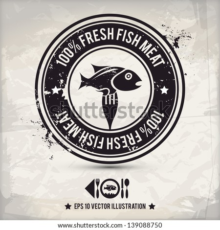 Fishermen icons stock images royalty free images for Fish symboled stamp