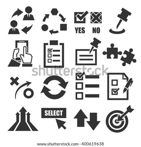 alternative, choice, select icon set - stock vector