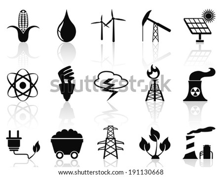 Alternative Energy icons set - stock vector