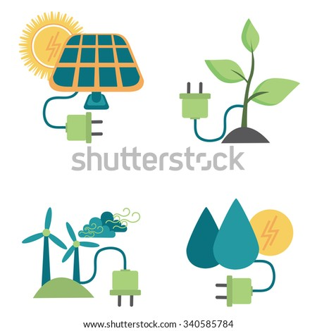 Alternative Energy Sources - stock vector
