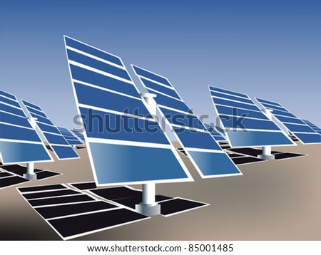 Alternative Solar Energy Panels - stock vector