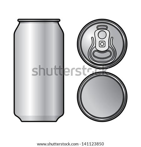 Aluminium Can container beer water beverage drink - stock vector