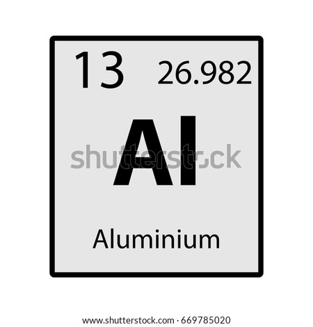 Aluminium periodic table element gray icon stock vector 669785020 aluminium periodic table element gray icon on white background vector urtaz Gallery