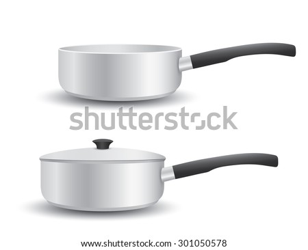 Aluminium Pot - stock vector