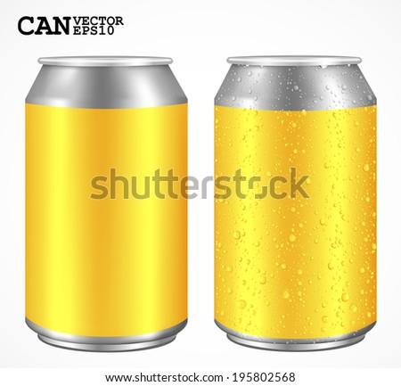 Aluminum cans, Realistic vector  - stock vector