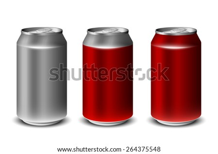 Aluminum soda can eps10 - stock vector