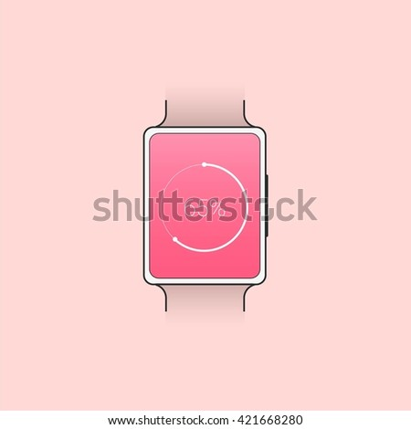 Always Connected. Smart watch. Analytic information, info graphic and dashboard - stock vector
