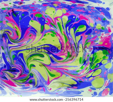 amazing artwork texture ebru,  drawing on the water abstract background