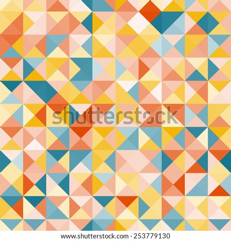 Amazing colorful yellow-blue vintage geometric pattern