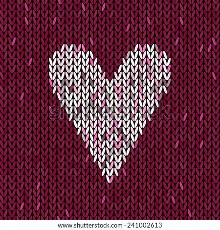 Textured Heart Knitting Pattern : axakos