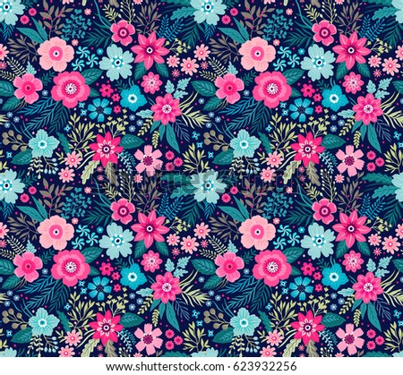 amazing seamless floral pattern bright colorful stock