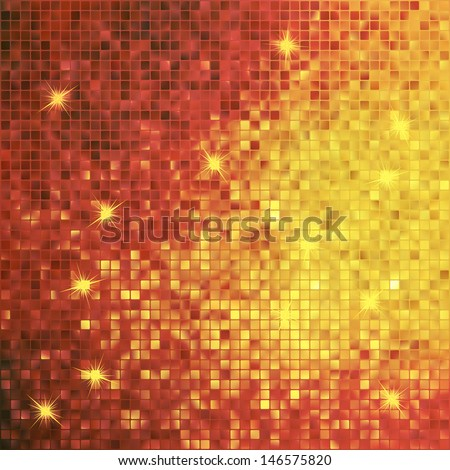 Amazing template design on gold glittering background. EPS 10 vector file included