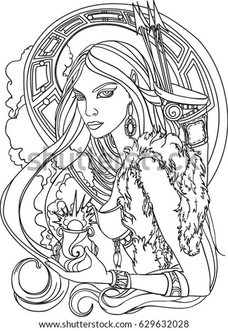 Amazon woman stock images royalty free images vectors Xena coloring book