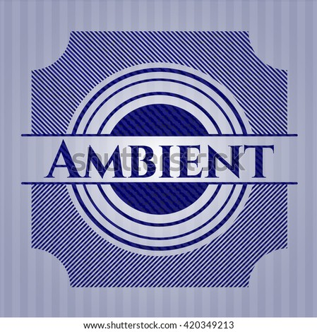 Ambient badge with denim background