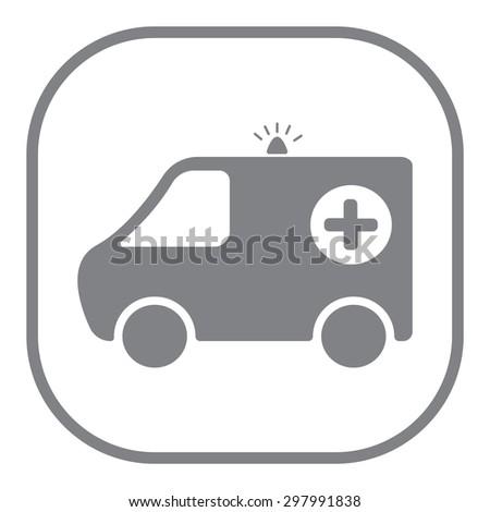 ambulance icon - stock vector
