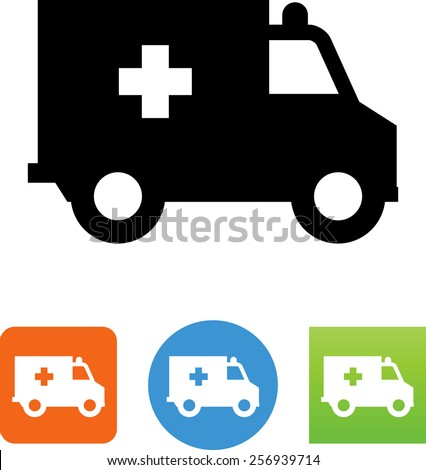Ambulance symbol for download. Vector icons for video, mobile apps, Web sites and print projects.  - stock vector