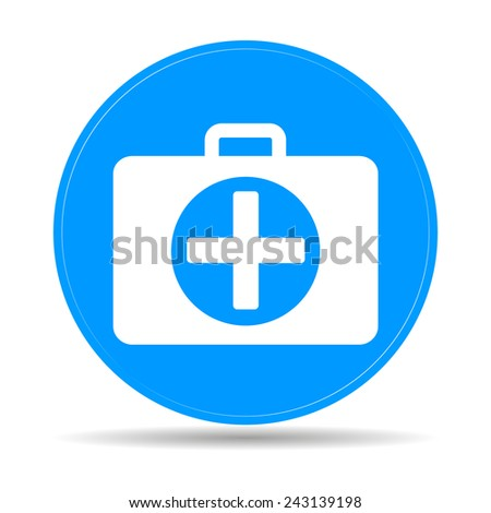 ambulanse icon - Vector icon.  - stock vector