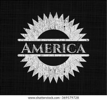 America chalkboard emblem - stock vector