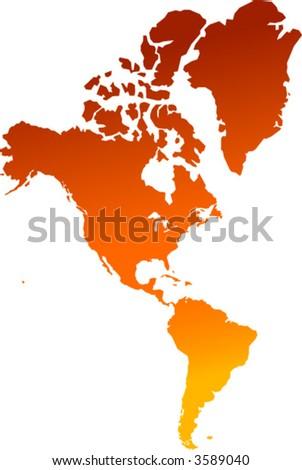 america continent - vector - - stock vector
