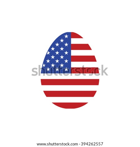 America easter egg vector illustration