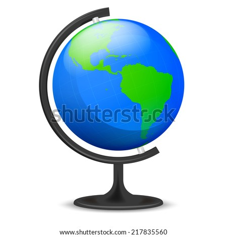 America education globe object isolated vector illustration - stock vector