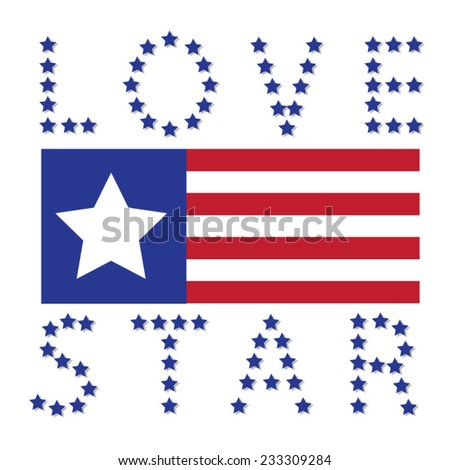 America love typography, t-shirt graphics, vectors - stock vector