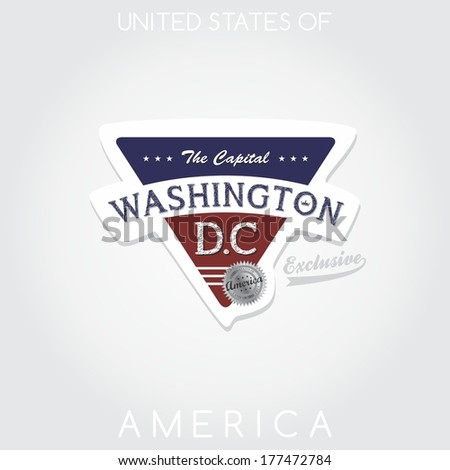 america state emblem washington - stock vector