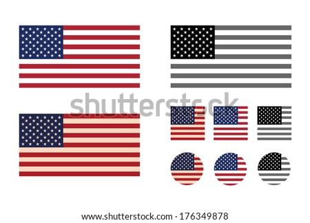 America. Vector format - stock vector
