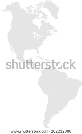 America without borders - stock vector