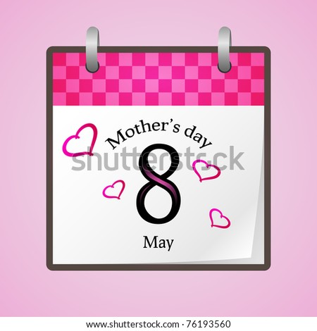 American and canadian mothers day for 2011 - stock vector