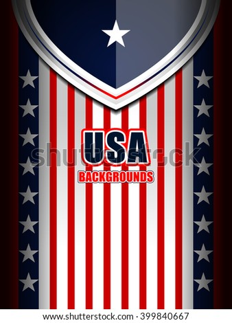 american backgrounds modern template, vector illustration