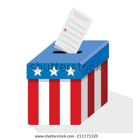 american ballot box - stock vector