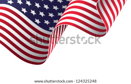 American banner vector illustration - stock vector