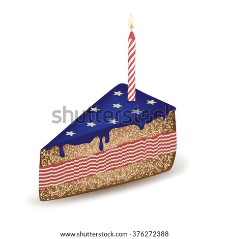 Birthday Cakes Of The United States Stock Images RoyaltyFree