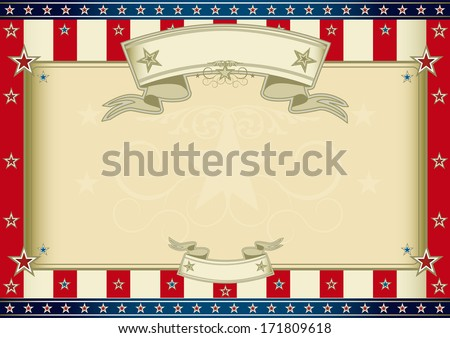 American certificate. An horizontal american poster for your message. Perfect size for your screen, your  pad.... - stock vector