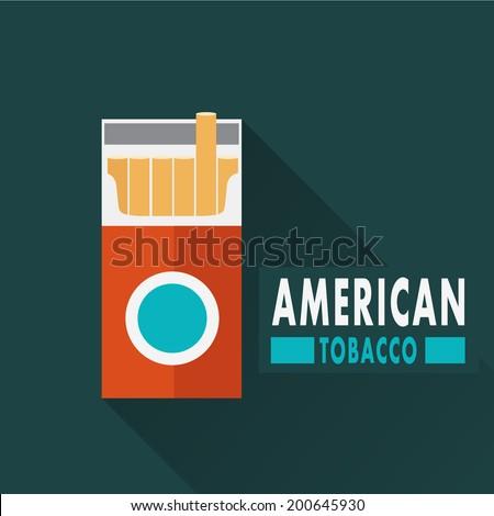 American cigarette box - stock vector