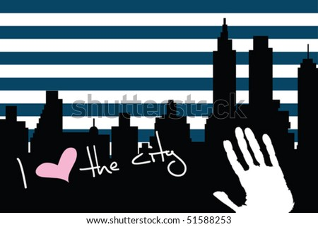American city background - stock vector