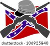 American Civil War. Confederacy. Stencil - stock photo