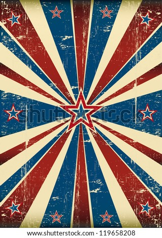 American dirty poster. Dirty flag on US theme